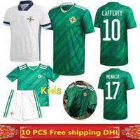 camisetas crianças de futebol de qualidade tailandesa venda por atacado-Frete grátis mais novo 2020 camisas de futebol da Irlanda do Norte 2020 2021 Irlanda do Norte casa longe camisa de futebol MAN + KIDS qualidade Thai