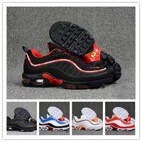 мужчины размер 16 кроссовки оптовых-Оригинал 98 plus tn Мужчины кроссовки Zapatillas Hombre Run Chaussures 98s кпу Man Sport ходьба спортивные кроссовки Размер Eur 40-46