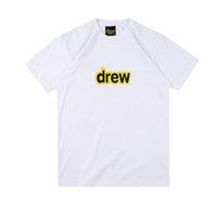 straßenwohnung großhandel-19ss Sommer Justin Bieber Drew House T Skateboard Herren Designer T-Shirt Damen Street Luxury Casual T-Shirt