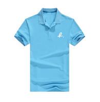мужчины розовая рубашка поло оптовых-8664 бесплатная доставка Стенд Воротник Розовый дельфин-поло номер футболки Человек Мужчины Топы Тис Летняя Мода Новый