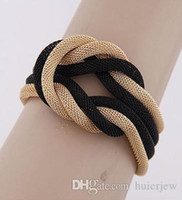 asiatische mädchen kleidet sich großhandel-Armband-Armband-handgemachte Webart-Ketten-Art- und Weisemädchen-Mann-Armband-Zusatz 2016 Dame Party Dress Charm Bracelets