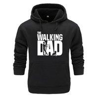 hoodie do paizinho venda por atacado-The Walking Dad Hoodies e Moletons dos homens de Grandes Dimensões para o Outono com Hip Hop Inverno Fleeces Hoodies Homens Marca Streetwear