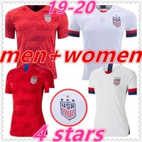 erkek kıyafeti t gömlekleri toptan satış-4 stars american usa womens mens designer t shirts 2019 2020 usa kids soccer jersey women clothes dresses usa football jerseys maillot de foot camiseta de fútbol