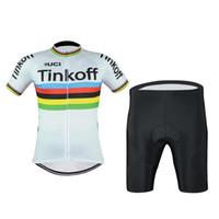Wholesale saxo bank short sleeve jersey for sale - Group buy SAXO BANK team Short Sleeve Cycling jersey bib shorts set Summer Breathable Wear shirt D gel pad MTB Bike Ropa Ciclismo Cycling Clothing