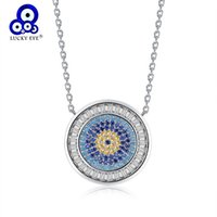 Wholesale blue evil eye pendant for sale - Group buy Lucky Eye Zircon Evil Eye Pendant Necklace For Women Blue Eye Necklace Crystal Charms Gold Silver Color Jewelry LE110