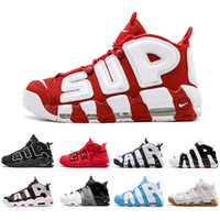 chaussures de basket pour hommes achat en gros de-Nike Air More Basketball Shoes 2019 Air Pinstripe plus 96 QS Olympic UK France Chaussures de basketball pour homme CHI noir SUP Air 3M Scottie Pippen Uptempo Sports Sneakers