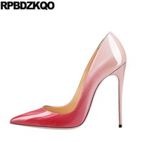 дюймовые насосы на каблуках оптовых-high heels 12 44 12cm 5 inch fetish fashion shoes 2019  women big size 13 45 exotic dancer sexy scarpin pointed toe pumps
