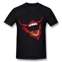 sonrisa de boca al por mayor-Camiseta de hombre The Joker Smile Mouth Bloody Camiseta de manga corta divertida camiseta novedad camiseta mujer