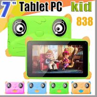 Wholesale 838 Kids Brand Tablet PC quot inch Quad Core children tablet Android Allwinner A33 google player MB RAM GB ROM EBOOK MID