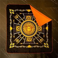 mantas tamaño queen al por mayor-Diseñador Goddess Black Blanket Manta de lujo Twin / Full / Queen Size Fashion Brand Manta de otoño e invierno Mantas de siesta