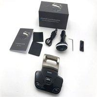 direksiyon hoparlörü bluetooth toptan satış-Araba Kablosuz Bluetooth V3.0 HandsFree Hoparlör Senkronize Çift Telefonları Bağlantısını Destekleme Senkron Direksiyon Üzerine Yüklemek