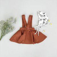 bebek kızı etek toptan satış-2018 Çocuk Bebek Kız Askı Etek Tutu Elbise Kahverengi tulumları Etekler Omuz-beline Kid Kız Parti Elbise Çocuk Giyim 6M-3Y ile