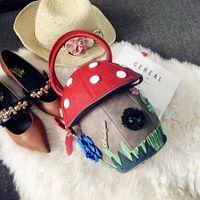 Wholesale wonderful bag resale online - 2018 new creative personality bag hit color fun wonderful cute mushroom bag mobile wallet
