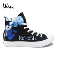 Wen Customized Canvas Sneakers Man Plimsolls Naruto Kakashi Lee Hand  Painted Shoes Woman Casual Flat Young People Anime Loafers  229033 b6ec2ba9b