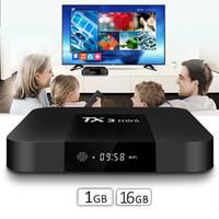 en iyi videolar toptan satış-TV Kutusu TX3 Mini 1 GB 8G / 16 GB En Iyi TV Kutusu Android 7.1 tv kutusu desteği 4 K H.265 1080 P HD video akışı