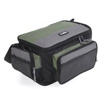 Wholesale lures 17cm resale online - LEO cm Fishing Bag Multifunctional Outdoor Fishing Tackle Bag Pack Oxford Reel Lure Storage Shoulder
