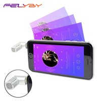 Wholesale mobile video recording for sale - FELYBY Wireless Mini Condenser Microphone for Mobile Phone Recording Video Karaoke Portable Mic