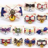 ingrosso dog collar bow-Mix Colorful Pet dog bow tie teddy bowknot collari per gatti campana ornamenti bel signore di orso forniture di abbigliamento per animali domestici con il prezzo a buon mercato
