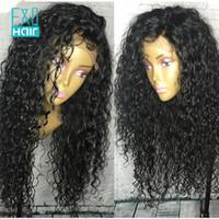 ingrosso acconciature brasiliane profonde-Parrucca piena del merletto dei capelli umani per la donna in bianco e nero naturale che osserva le parrucche nere anteriori del pizzo di Glueless dell'onda profonda di colore
