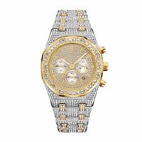 movimento suíço observa homens venda por atacado-Alta qualidade design suíço homens e mulheres assistem marca de moda relógio designer de quartzo movimento relógio de luxo strass aço inoxidável