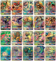 Wholesale card games for free resale online - 20PCS GX Cards High HP Flash Cards New Charizard TagTeam For Children Toy DHL