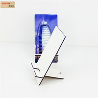 mobile phone mdf stands holder for sublimation DIY customized blank cellphone universal rectangle stands For All Android Smart phone