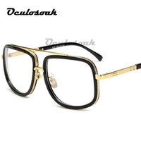 armações ópticas para machos venda por atacado-2019 armações de óculos ópticos homens limpar óculos de lente Mulheres óculos de armação de óculos de alta qualidade preto quadrado espetáculo