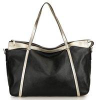 bolsa de couro real de mulher grande venda por atacado-Real Leather Bag Lazer Mulher Saco Grande Capacidade Ombro Único
