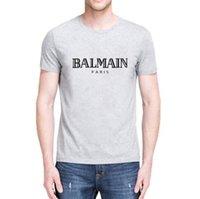 moda tişört kadın sokak toptan satış-Marka tasarım SS18 Yaz Sokak giyim Avrupa Paris Fan Made Moda erkekler Yüksek Kalite Kırık Delik Pamuk Tshirt Casual Kadın Tee Blm T-shirt