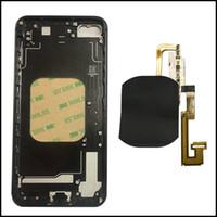 iphone rahmenbatterie großhandel-Machen Sie Ihr 7Plus wie 8 Mini-Akku-Tür Wireless-Ladegerät Empfänger flex Glas zurück Metallrahmen Gehäuse Ersatz für iPhone 6G 6S