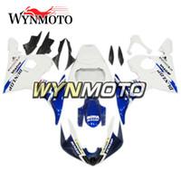 kits de plástico yamaha venda por atacado-Azul escuro branco motocicleta carenagens para yamaha yzf 600 r6 2005 05 abs plástico injeção motos kits capas capas