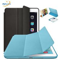 тонкий мини-планшет оптовых-Оригинальный официальный тонкий кожаный магнитный смарт-чехол для iPad 1 234 Air 2 для Apple iPad mini 234 5 Tablet Case Auto Wake Sleep
