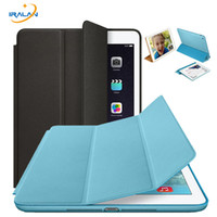 Wholesale smart original ipad resale online - Original Official Slim Leather Magnetic Smart Cover Cases For iPad Air for Apple iPad mini Tablet Case Auto Wake Sleep