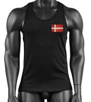e990de5ec5f251 Wholesale flag singlet online - 2019 New Brand Clothing gym Summer Singlets  Mens Tank Tops Shirt