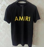trajes de moda para mujeres al por mayor-AMIRI Hombre jogging traje hombres lujo diamante diseño camiseta moda camisetas mujeres divertidas camisetas polos ralph hombres algodón tops y camisetas