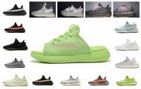 atletizm terliği toptan satış-V2 Slipplers Siyah Yansıtıcı Statik Olmayan 3 M Terlik Mavi Tonu Bakır Zebra Krem Beyaz Erkek Kadın Atletizm Ayakkabı Tasarımcısı Ayakkabı kil sneaker