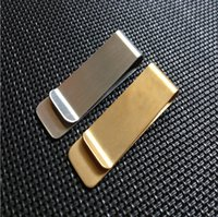 Wholesale money clippers for sale - Group buy 500pcs Stainless Steel Brass Money Clipper Slim Money Wallet Clip Clamp Card Holder Credit Name Card Holder