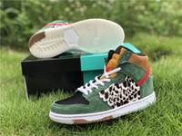 Wholesale breathable dog shoes resale online - 2019 Release Man Women Girl Basketball Shoes SB Dunk High Dog Walker S With Box Running Sneakers BQ6827 US