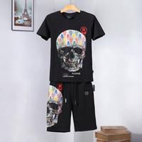 vêtements de crâne pour les hommes achat en gros de-HOT P marque Hommes T-shirt manches courtes o-cou designer vêtements d'été mode casual hip hop luxe tops tee crâne t shirt Punk Asie Taille M-3XL