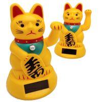 Wholesale car symbols resale online - car cat decoration interior accessories Cute Welcoming Fortune Symbol Figurine Paw waving Fortune Cats car decoration