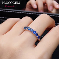 ingrosso argento sterling in argento naturale zaffiro-Natural Fashion Sri lanka Sapphire Rings per le signore Anniversary gifts Genuine gemstones Fine Jewelry 925 Sterling Silver # 506