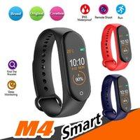 cradle entwürfe großhandel-1 STÜCKE M4 Smart Armband Fitness Tracker Schrittzähler Uhrenarmband Herzfrequenz-blutdruckmessgerät Smart Armband Für Android Cradle Design