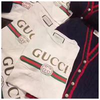 erkekler için markalı gündüz gömlek tasarımları toptan satış-Toptan erkekler Tees pist tasarım t gömlek Dolce marka pamuk dg kısa kollu o-boyun adam casual giyim t shirt g