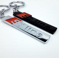 automatische linien großhandel-Auto Schlüsselanhänger Auto Keychain Schlüsselanhänger Schlüsselanhänger Für Audi Sline S S3 S4 S6 A3 A4 A5 A6 A5 Q3 Q5 Q7 Auto Styling Zubehör
