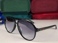 горячие очки квадратные оптовых-Новые модельер солнцезащитные очки 0423 квадратный пилот кадр Простые горячие продажи защитные очки на открытом воздухе uv400 с коробкой