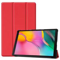 samsung için tablet kapakları toptan satış-Samsung Galaxy Tab için Bir 2019 SM-T510 SM-T515 T510 T515 Tablet kapak Tab için Standı Kılıf Bir 10.1 '' 2019 tablet kılıf