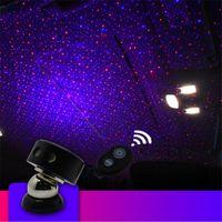 auto lâmpada decorativa venda por atacado-K1 rgb atmosfera do carro luz do carro estrela da luz do céu dj rgb projetor de laser de som de controle remoto do carro lâmpada decorativa auto noite luz