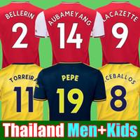 kit futbol achat en gros de-19 20 maillot de football Arsenal 2019 2020 AUBAMEYANG OZIL TORREIRA maillot de football maillot de football