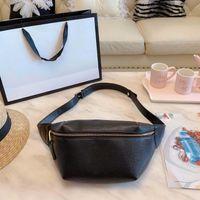 bel göğüs çantası deri toptan satış-Marka yeni tasarımcı bel çantaları yüksek kalite Lüks tasarımcı göğüs çanta moda kadınlar Vintage deri çanta