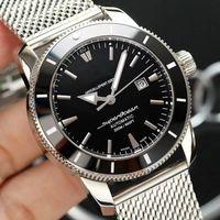 Wholesale luxury watches resale online - Luxury Superocean quartz chronograph Automatic movement fashion Silver mens Watch Men watches Stainless Stell Wristwatches